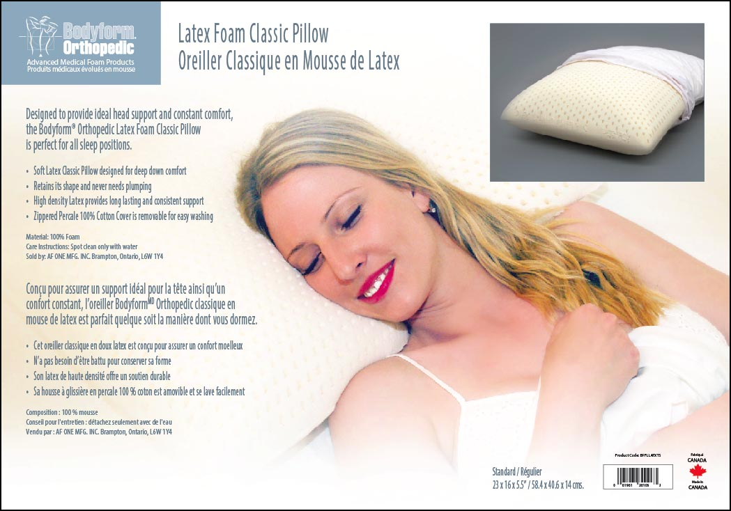 Latex Foam Classic Pillow