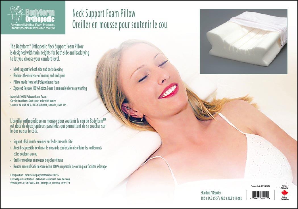 Neck Support Foam Pillow