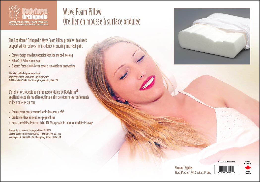 Wave Foam Pillow